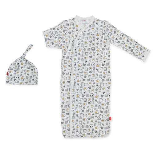 BREAKFAST CLUB MODAL MAGNETIC SACK GOWN & HAT SET