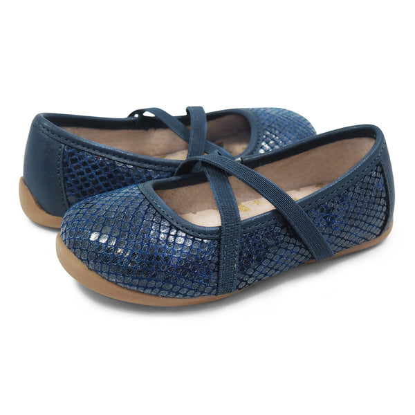 LIVIE & LUCA AURORA IN NAVY SNAKE