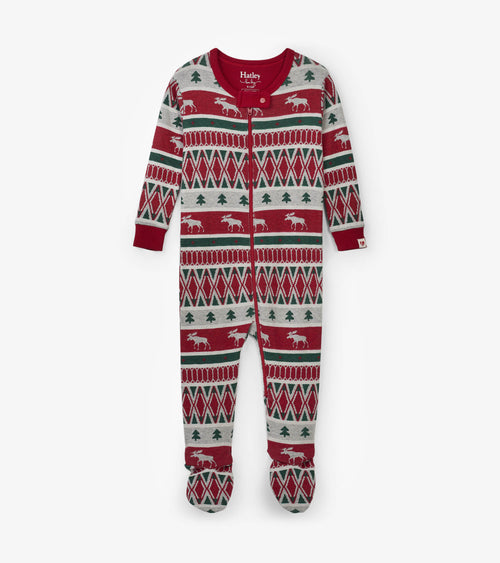 HATLEY WINTER FAIR ISLE FOOTED COVERALL #19-1202