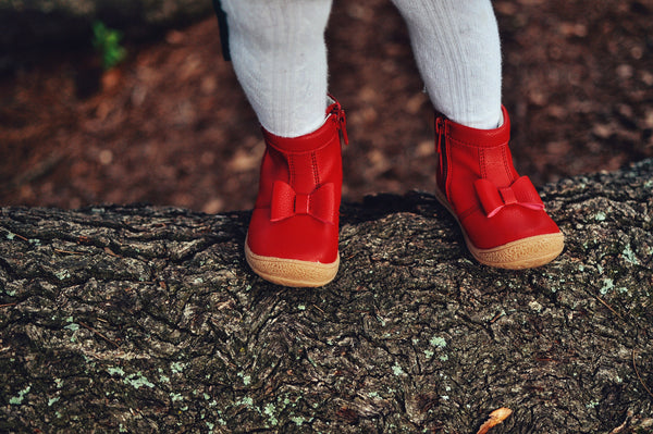 HILARY BOW BOOT IN RED #19610R
