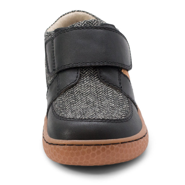 LIVIE & LUCA MAVERICK IN BLACK HERRINGBONE