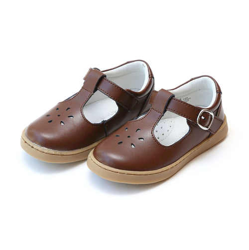 CHELSEA SPORTY T-STRAP MARY JANE IN BROWN #19720B