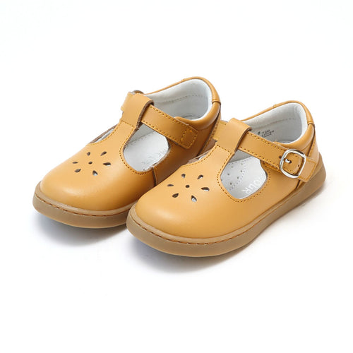 CHELSEA SPORTY T-STRAP MARY JANE IN MUSTARD #19720M