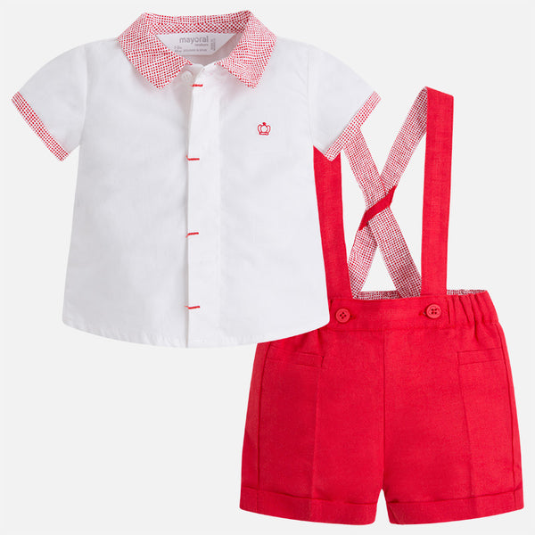 MAYORAL SHORTS SET IN POPPY #21559