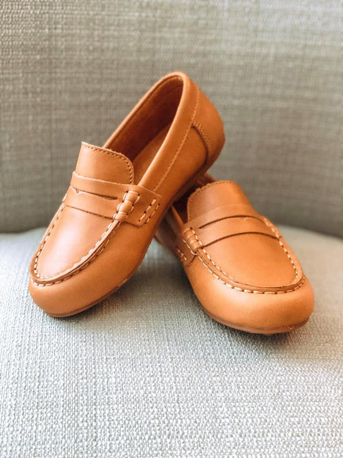 CLASSIC PENNY LOAFER IN CARAMEL #1019B
