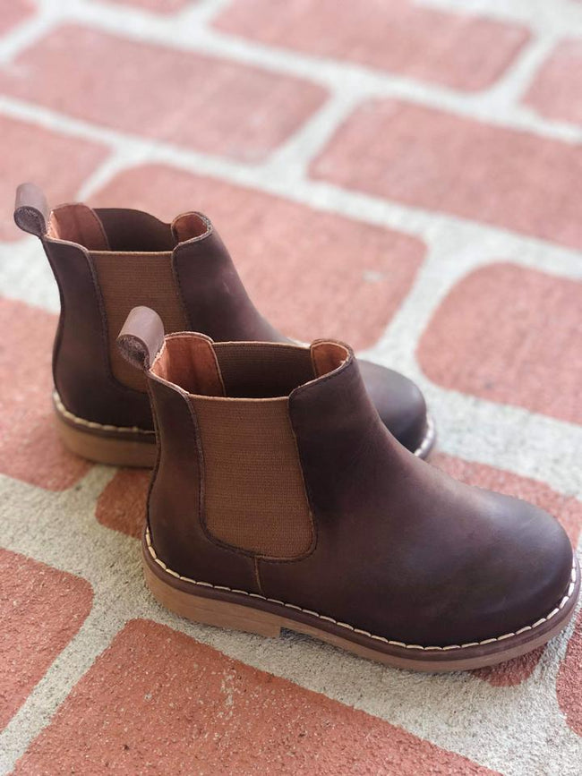CHELSEA BOOT IN CHOCOLATE