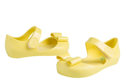 MARY JANE JELLY BOW FRONT SHOE IN YELLOW