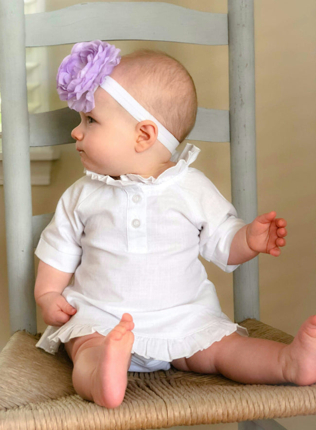EVIE'S CLOSET WHITE 2PC TOP & BLOOMER SET