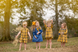 SHELBY MUSTARD PLAID DRESS SET BY THE OAKS