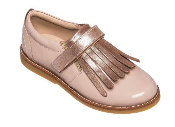 ELEPHANTITO SLIP IN WITH FRINGES IN BLUSH PATENT