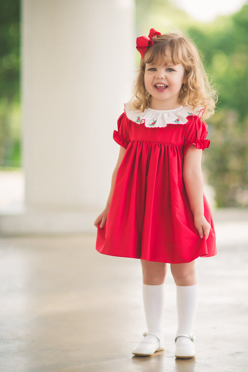 THE PROPER PEONY WINTERBERRY DRESS