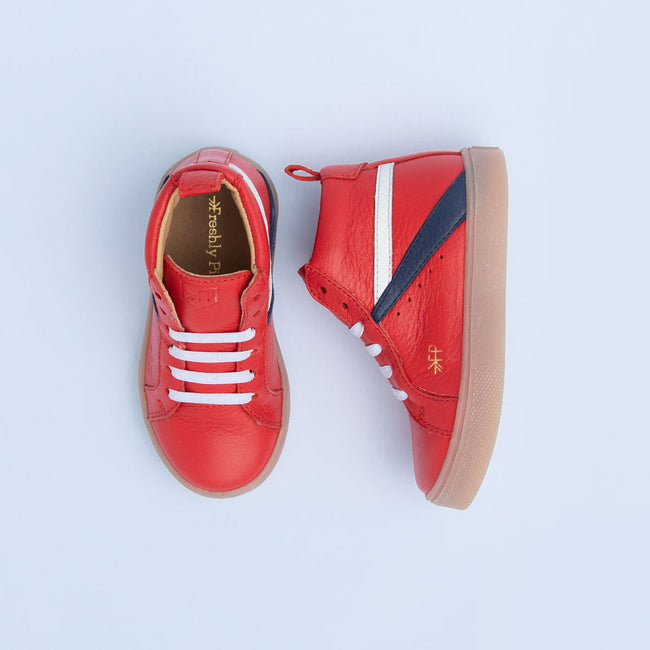 HI TOP SNEAKER IN CHERRY BY FRESHLY PICKED