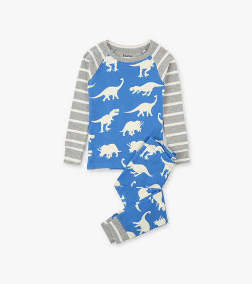 ORGANIC COTTON PAJAMA SET IN ROAMING DINOS BY HATLEY