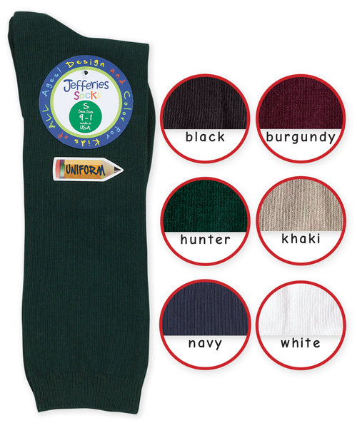 SCHOOL UNIFORM COTTON KNEE SOCK IN ASSORTED COLORS