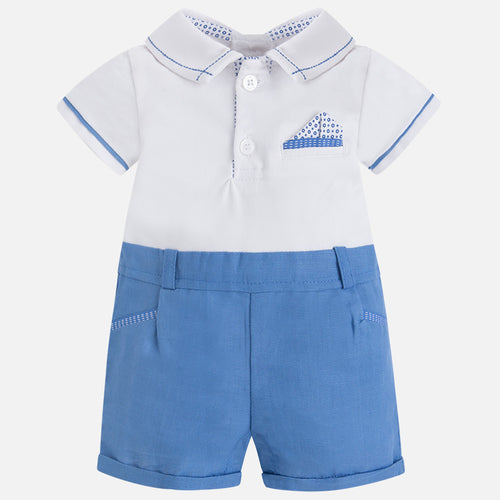 MAYORAL ROMPER IN RIVER BLUE #21914
