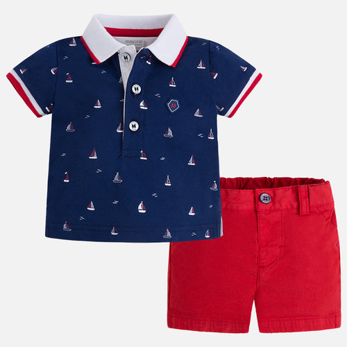 MAYORAL SHORTS AND POLO SET #21912