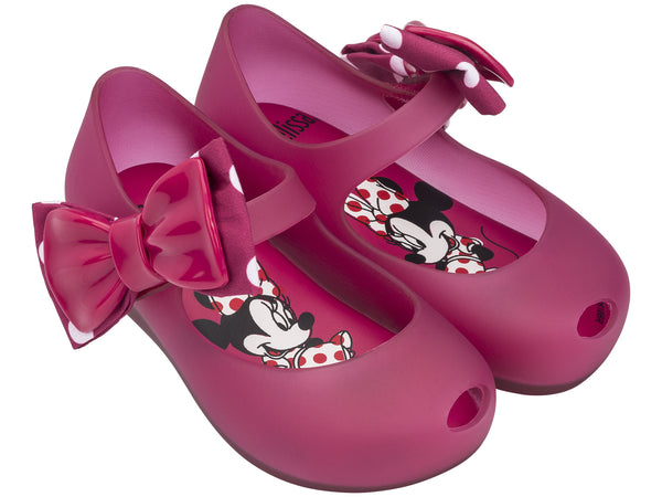 MINI MELISSA, MINNIE SIDE BOW SHOE IN PINK #21796