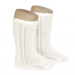 CROCHET KNEE SOCK IN BEIGE #2569303