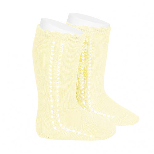CROCHET KNEE SOCK IN BUTTER #2569610