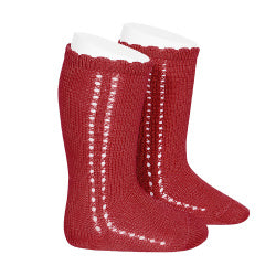 CROCHET KNEE SOCK IN RED #2569550