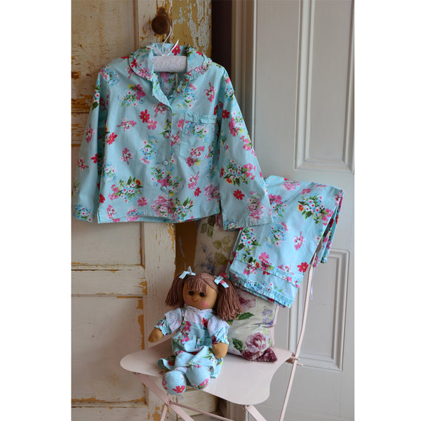 BLUE FLORAL PJ SET