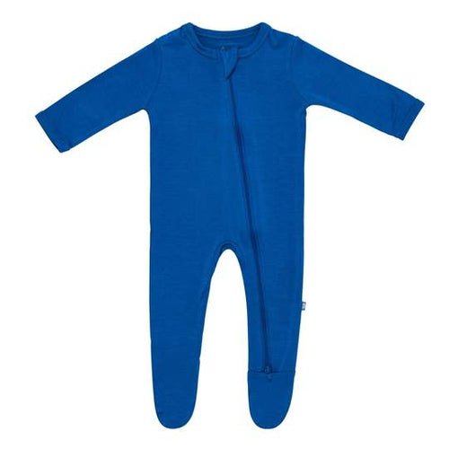 ZIPPERED FOOTIE IN SAPPHIRE BY KYTE