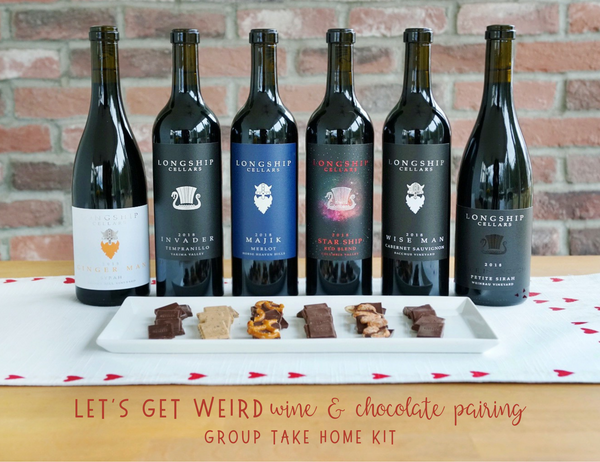 Group At Home LET'S GET WEIRD - Wine & Chocolate Pairing