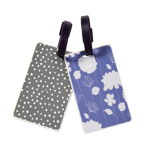 Floral Dot Luggage ID Tag - Bucky Products Wholesale