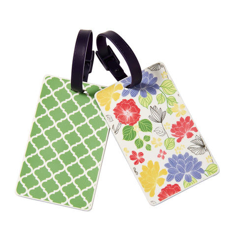 Wholesale Garden Blooms Luggage Tag - Bucky Products