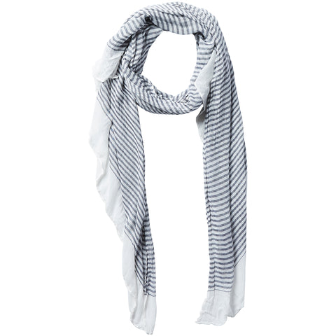 Tiny Stripe Insect Shield Scarf - Black - Bucky Products Wholesale