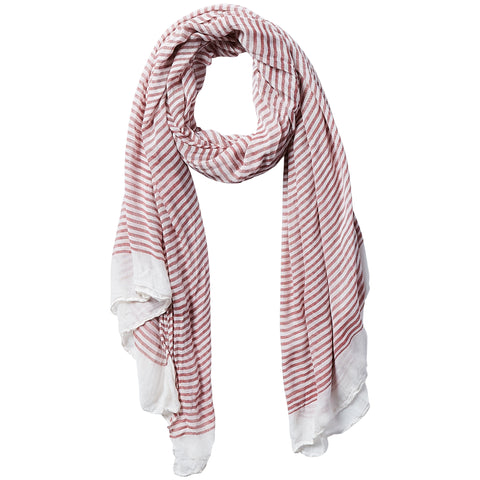 Tiny Stripe Insect Shield Scarf - Red - Bucky Products Wholesale