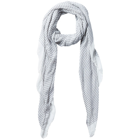 Tiny Stripe Insect Shield Scarf - Gray - Bucky Products Wholesale