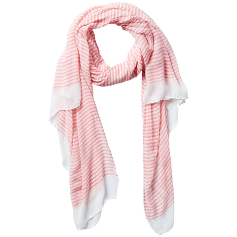 Tiny Stripe Insect Shield Scarf - Coral - Bucky Products Wholesale