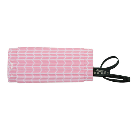 IdentiGrip Luggage Handle Wrap - Pink Chevron - Bucky Products Wholesale