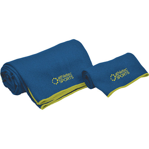 Yoga Towel Set - Blue & Green - Bucky Products Wholesale