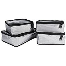 4 Piece Travel Organizer Cube Set - Grey - Bucky Products Wholesale