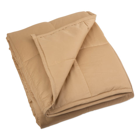 "60"" x 80"" Weighted Blanket - Taupe - Bucky Products Wholesale"