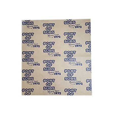 custom printed wax paper sheets placemats carryout