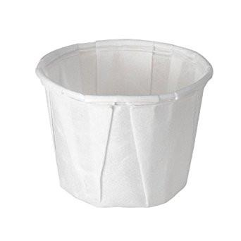 0.5 OZ YC PAPER SOUFFLÉ/PORTION CUP, WHITE - 5,000 / CS