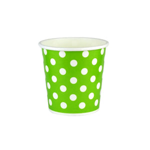 04 OZ PAPER DRINKING CUPS, POLKA DOT GREEN - 1,000/CS - (item code: 35204) - CarryOut Supplies
