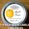 "1,000 pcs Order - 1.5"" x 1.5"" WHITE LABELS - CarryOut Supplies"