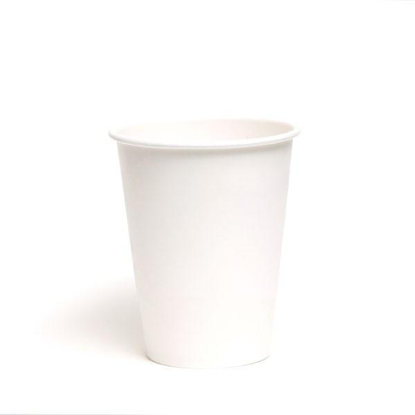 PAPER HOT CUPS (12 OZ.) CUSTOMIZABLE PLAIN WHITE - CarryOut Supplies