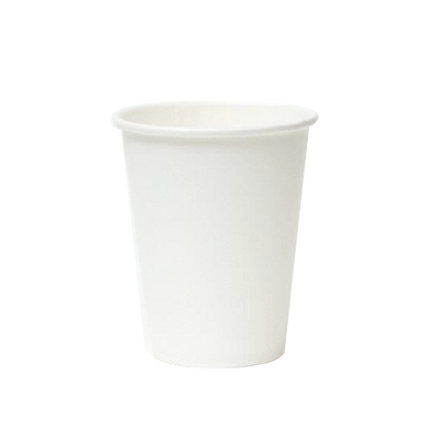 PAPER COLD CUPS (9 OZ.) - PLAIN WHITE - 2,000PCS (Item: PBC09-GTK) - CarryOut Supplies