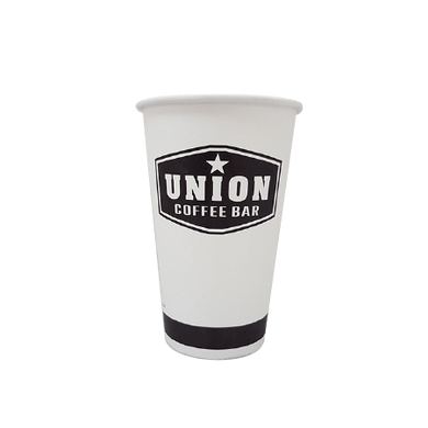 50 CASES - 12 OZ. CUSTOM PRINTED COFFEE CUPS - 50% DEPOSIT REQUIRED - $70.00/CS - CarryOut Supplies