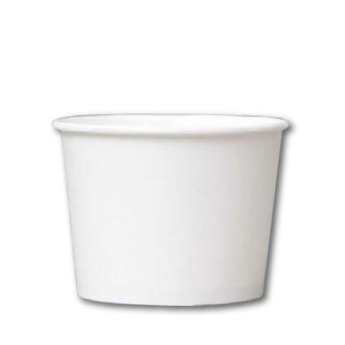 12 OZ. PAPER YOGURT CUPS 1000 PCS/CS - PLAIN WHITE - CarryOut Supplies