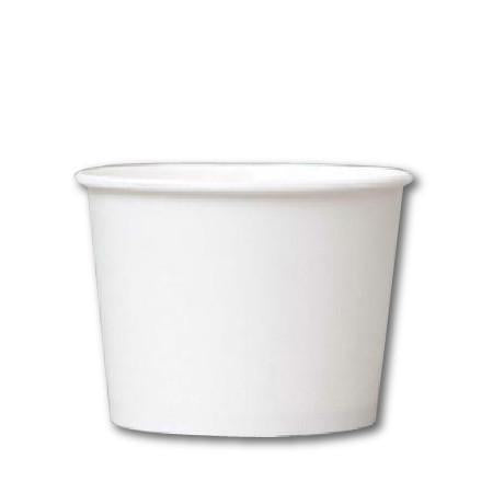 12 OZ. PAPER YOGURT CUPS 1000 PCS/CS - PLAIN WHITE