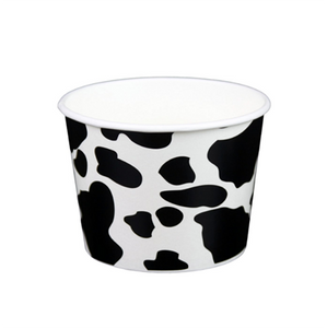 12 OZ. PAPER YOGURT CUPS, DAIRY PRINT- 1,000 / CS - (Item: 21291) - CarryOut Supplies
