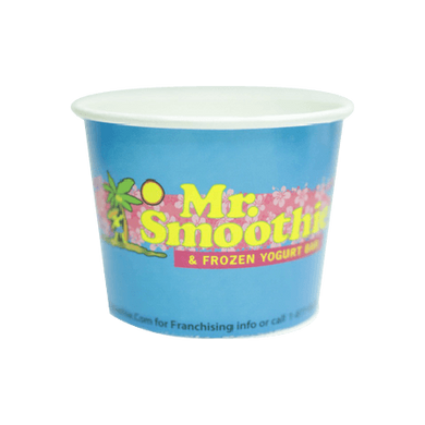 16 OZ. CUSTOM PRINTED YOGURT CUPS - 1000 PCS/CS - 50% DEPOSIT REQUIRED - FROM $0.0575 TO $0.0465 CENTS PER CUP - CarryOut Supplies