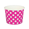 16 OZ. PAPER YOGURT CUPS, POLKA DOT PINK - 1,000 PCS/CS - (Item: 21664) - CarryOut Supplies