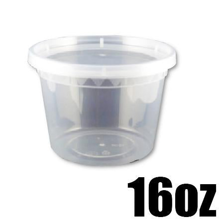 16 OZ. CLEAR ROUND DELI CONTAINER COMBO - 240 CONTAINERS / CS - (Item: 5016)